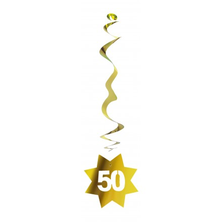 Golden Wedding Anniversary Hanging decoration 50th birthday party supplies