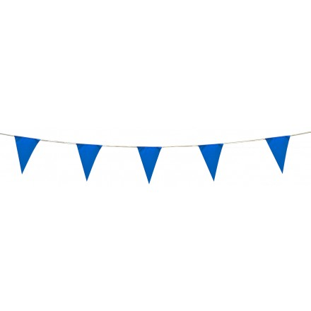 blue pennant bunting