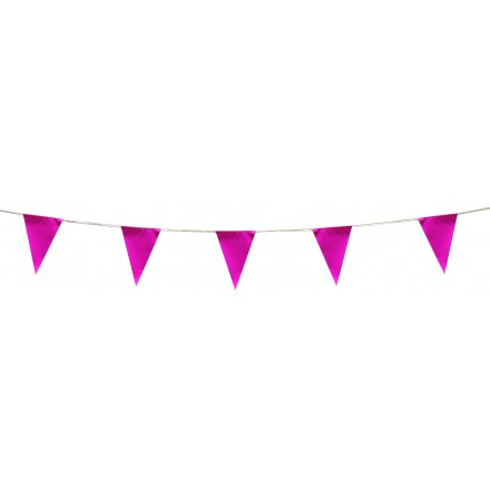 pink pennant bunting