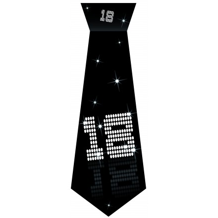 18th Birthday tie black and white party accessory