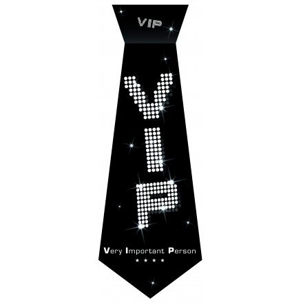 VIP Birthday tie black and white party accessory very important person