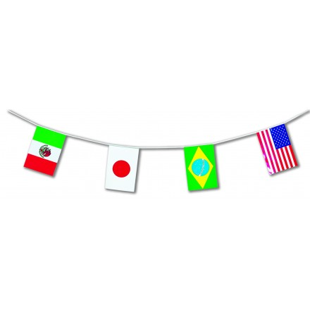 world countries flag bunting