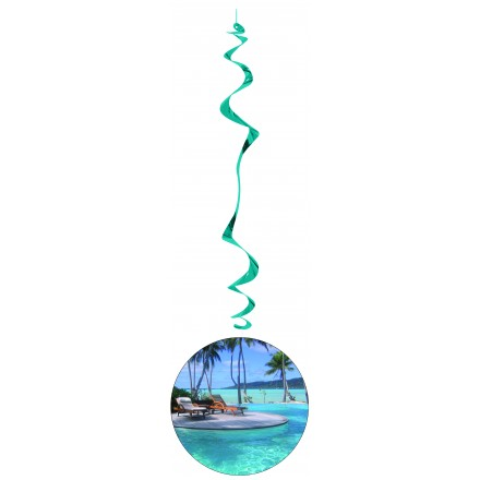 Hawai hanging swirl decoration