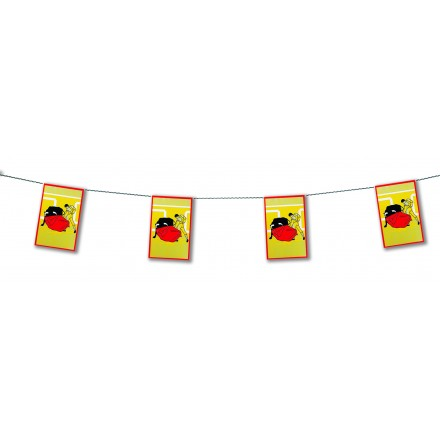 corrida plastic bunting Themed Spanish Party Decoration Idea