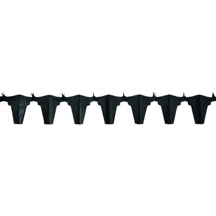 Black bull tissue garland 4,50m flame retardant party decoration Spanish or Wild West