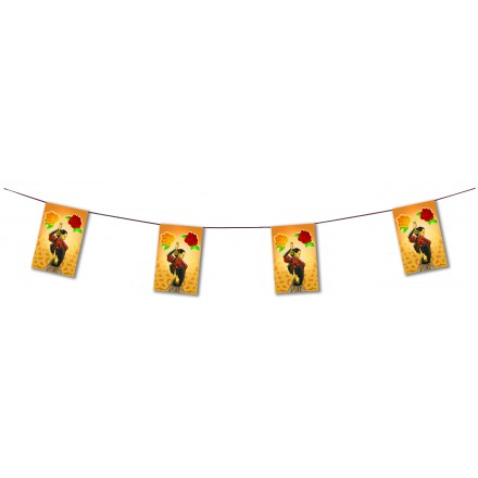 flamenco bunting 4,50m Spanish party room decoration