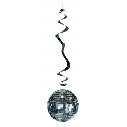 disco ball hanging swirl decoration ( Pack of 6 ) 70s 80s themed party supplies idea