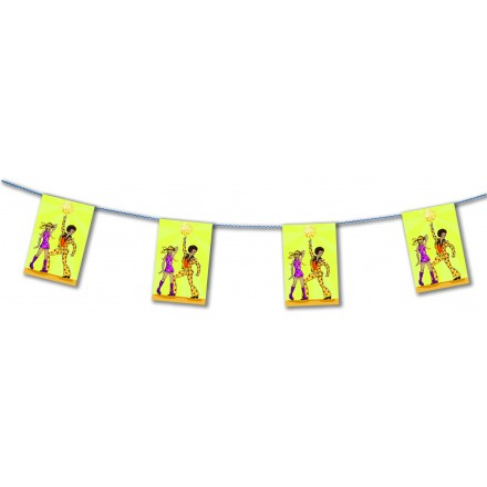 disco bunting 4,50m 70s 80s party decoration flame resistant paper