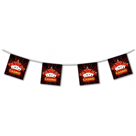 casino bunting 4,50m Las Vegas paper banner flame retardant party decoration
