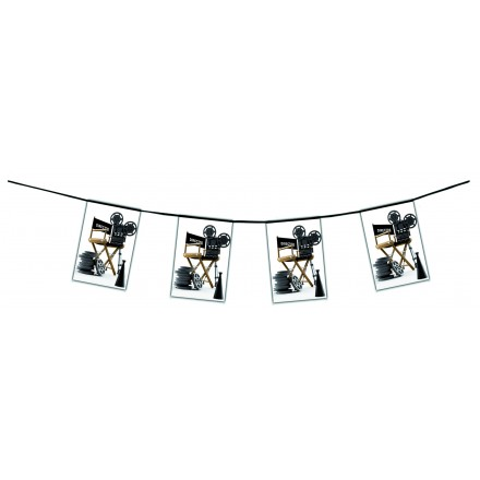 cinema bunting 4,50m Hollywood themed party supplies flame retardant