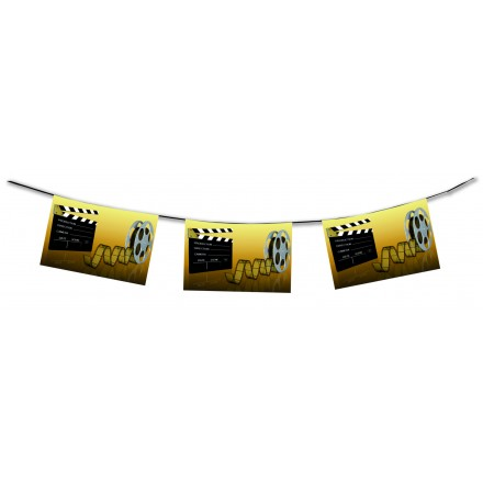 cinema bunting 4,50m Hollywood themed party supplies flame resistant banner