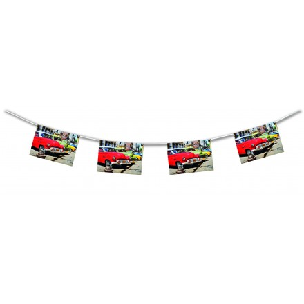 Cuban Cars Bunting 4,50m themed party decoration