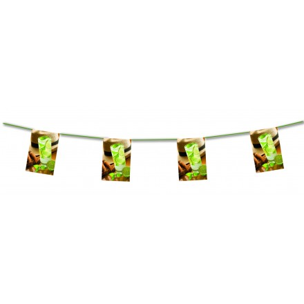 Cuban Cocktail Bunting 4,50m themed party decoration
