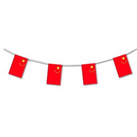 China flag bunting and banner party supplies