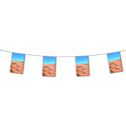 Sahara bunting 4,50m banner and garland
