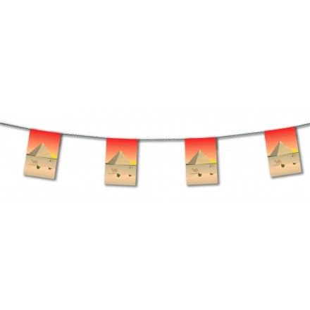 Egypt bunting 4,50m oriental party banner room decoration