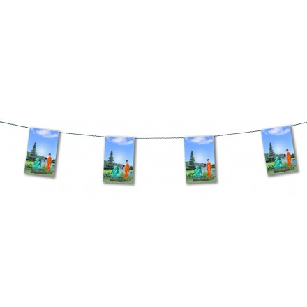 Indian bunting 4,50m oriental party decoration