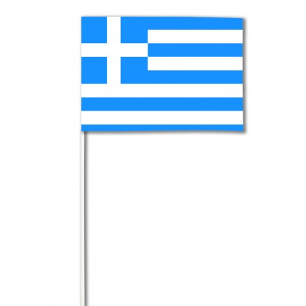Greece hand-waving flag 14x21cm (Pack of 100) Greek paper hand held party supplies
