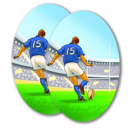 rugby cutout 24x35cm cheap hanging party decoration