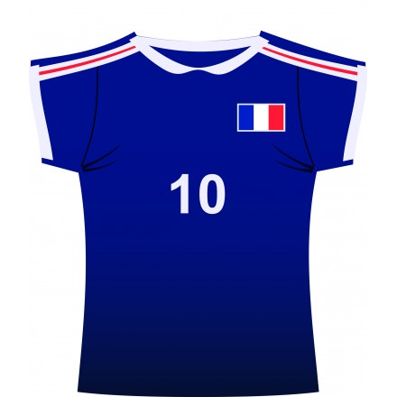 French jersey cutout ( Shirt ) rugby and football party decoration
