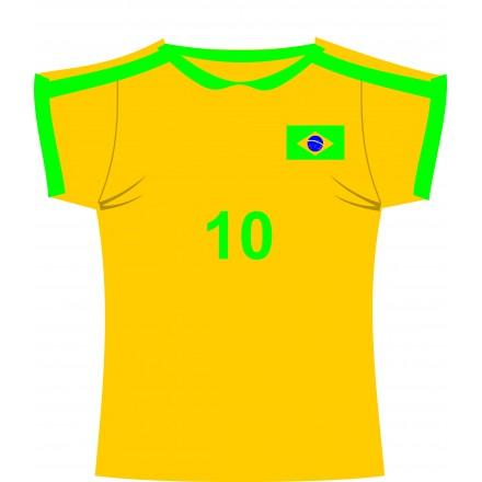 Brazilian football jersey cutout