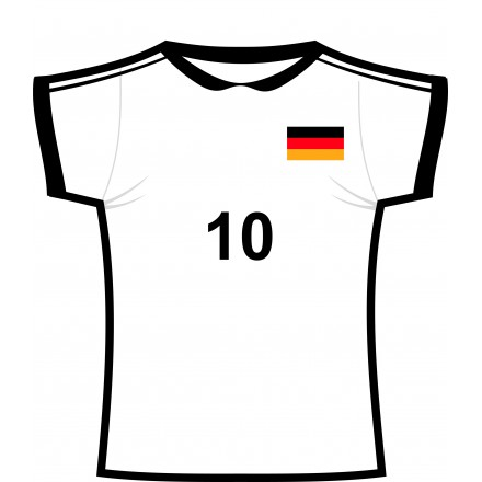 German football shirt cutout for Football cutout template