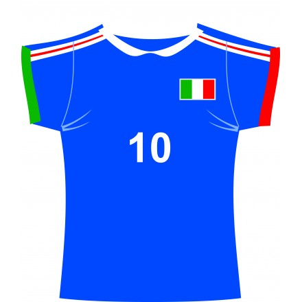 Italian jersey (shirt) cutout