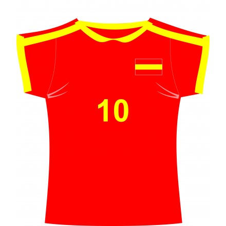 Spanish football jersey (shirt) cutout