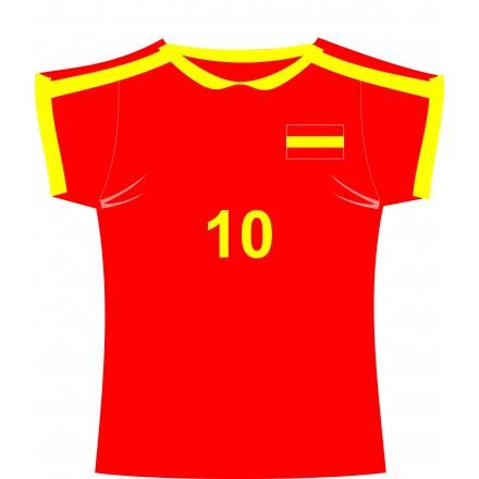 Spanish football jersey (shirt) cutout