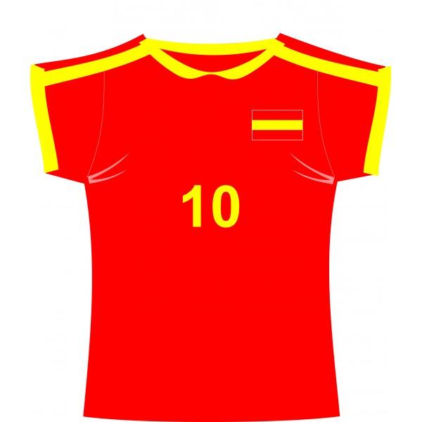 Spanish Football Shirt Cutout