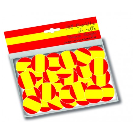 Spain flag confetti