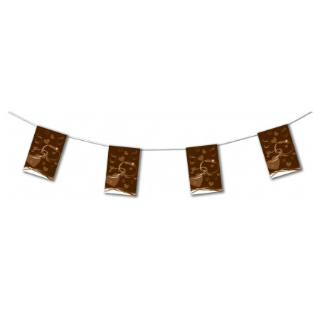 Brown wedding bunting 4,50m party room decoration