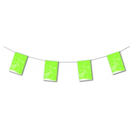 Apple green wedding bunting 4,50m party decoration
