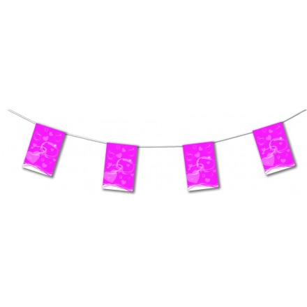 Fuschia wedding bunting 4,50m party room decorating