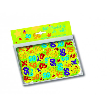 50th birthday confetti ( 150 pcs ) table party decoration
