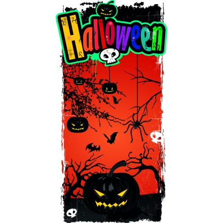 pumpkins halloween banner 25x50cm party decoration