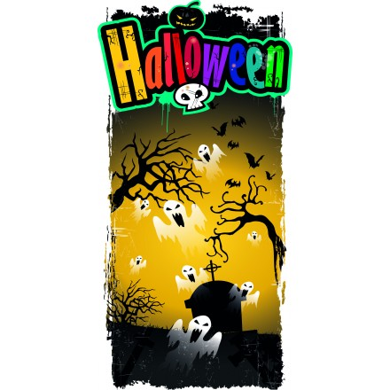 Ghosts halloween banner 25x50cm cheap party decoration