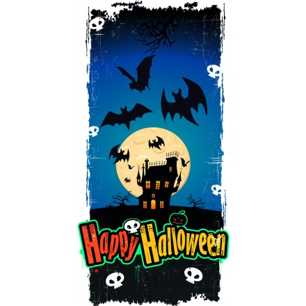 haunted castle halloween banner 25x50cm cheap party decoration halloween bunting and garland