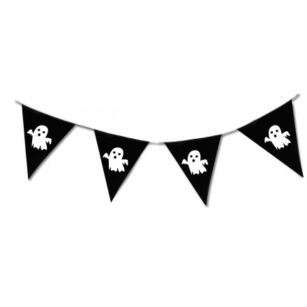 Ghost halloween pennant bunting 4m ghost triangle banner and garland halloween decoration
