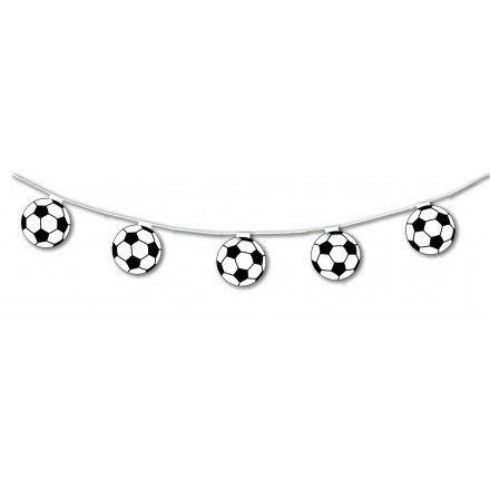 football balloon bunting 17ft/5m lengths flame resistant paper soccer themed party garland