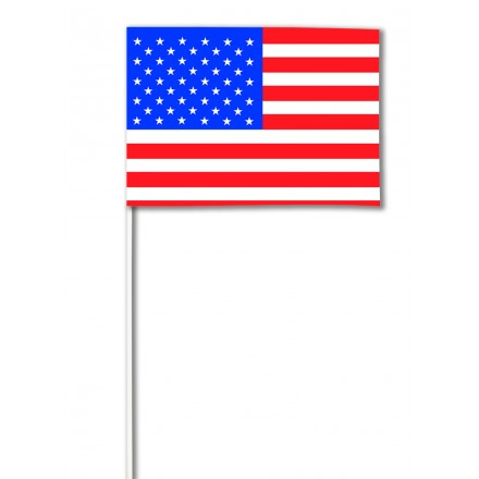 USA hand-waving flag 14x21cm ( Pack of 100 ) American paper hand held party decoration