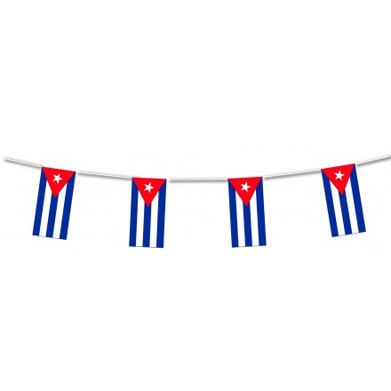 Plastic Cuba flag bunting and banner party decoration and supplies