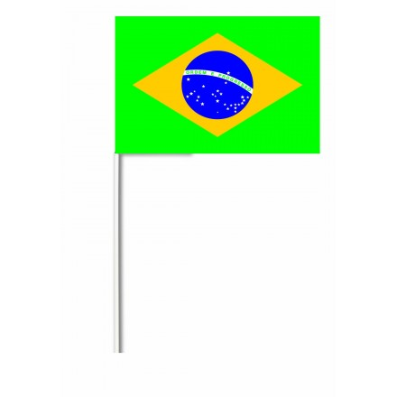 Brazil hand-waving flag 14x21cm pack of 100 hand held party supplies
