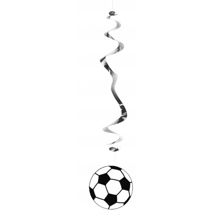 football hanging swirl decoratioin