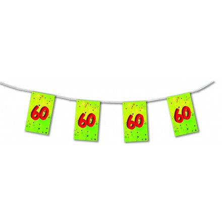 60th birthday bunting 4,50m (15ft) paper party decoration