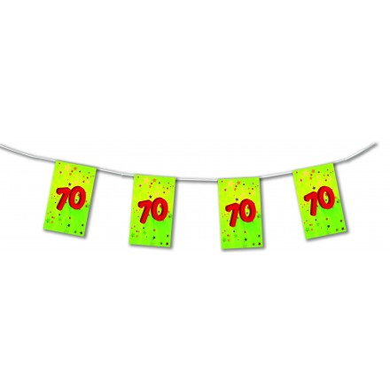 70th birthday bunting 4,50m ( 15ft ) paper party decoration