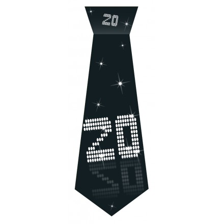20th Birthday tie black and white accessory
