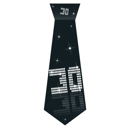 30th Birthday tie black and white party accessory