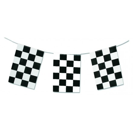 checkered flag bunting