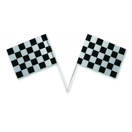 chequered hand-waving flag ( Pack of 100 )